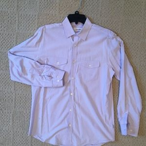Calvin Klein Lavender Striped Men's Button-Down